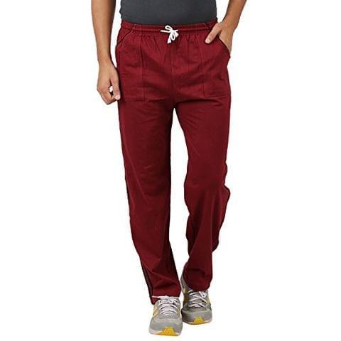 Sixer Men's Cotton Track pant - Maroon