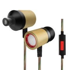 KZ ED7 3.5mm Rear Mesh Bamboo Design In-Ear Style Wire Control Earphone
