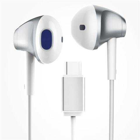 Baseus 1.3m In-Ear Digital Stereo Music Type-C Wired Control Earphone for Samsung, Google, LG, Huawei, NOKIA  or Other USB-C / Type-C Equipments(White)