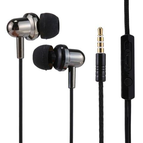 U-20 1.2m Bass Stereo Sound In-ear Wire Control Earphone with Mic