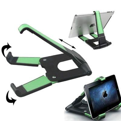 Folding Plastic Stand Holder for iPad 4 / New iPad (iPad 3) / iPad 2 / Tablet PC (Max. Load Capacity: 2kg), Green(Green)