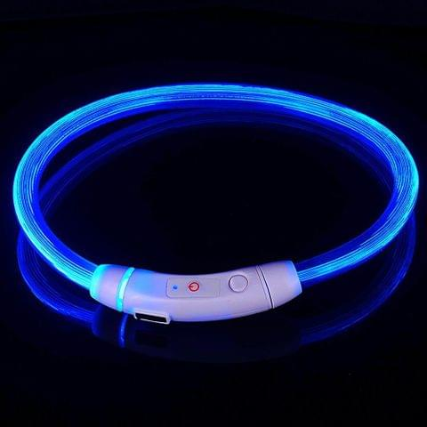 Pet Dog Collar Rechargeable LED Tube Flashing Night Luminous Safety Puppy Cat Collar With Battery