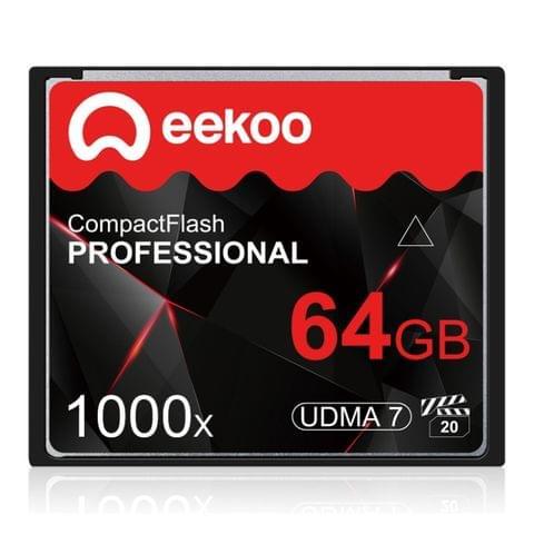 eekoo 64GB 1000X UDMA7 Compact Flash Card for DSLR Camera