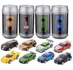 Coke Can Mini RC Car Radio Remote Control Micro Racing Car(Yellow)