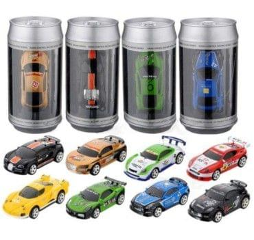 Coke Can Mini RC Car Radio Remote Control Micro Racing Car(Green)