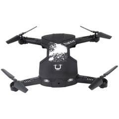 Utoghter 69506 4 CH Foldable 3D Flip 2.4GHz Mini Quadcopter with 0.3MP Camera & LED Light, Headless Mode, One Key Return, Altitude Hold Mode, App Control(Black)