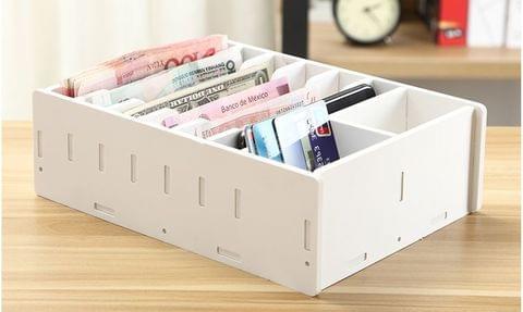 Cashier Drawer  Money Collecting Box - White