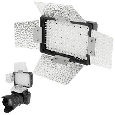 140 LED Video Light with 2 Color Temperature Transparent Films (Orange / White)(Black)