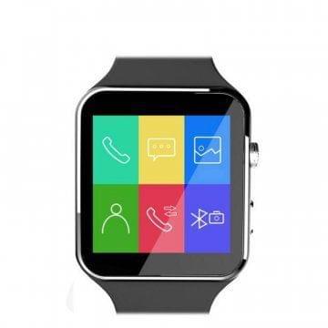 X6 Bluetooth Waterproof Smart Watch, Black