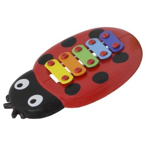 Eassycart 1 Set 5-notes Handheld Ladybug Xylophone Piano Toy Children Musical Toys