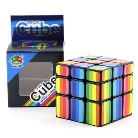 Eassycart 3x3x3 Rainbow Mirror Cube Mod, Speed Twisty Puzzle Brain Teaser Cube Toy for Kids