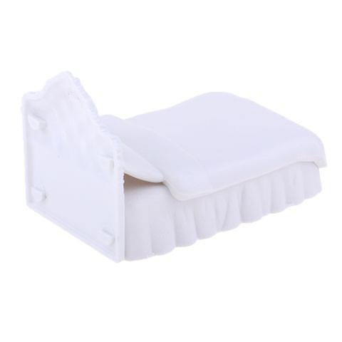 Eassycart Dollhouse Miniature Furniture Plastic Single Bed Model Set DIY Mini Toy 1/25