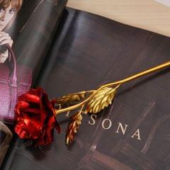 24K Golden Foil Plated Decoration Rose Artificial Flower, Random Color Delivery