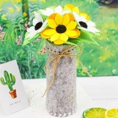 5 PCS DIY Non-woven Fabrics Simulated Potted Flowers Children Handmade Mothers Day Gifts