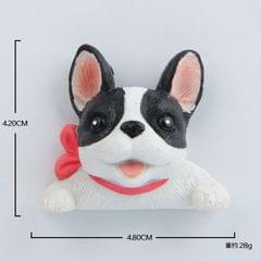 2 PCS Home Decoration Originality French Bulldog Tie 3D Fridge Paste, NO Magnetic