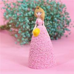 Pretty Skirt Girl Style Resin Crafts Ornaments Room Decoration, Size: 11*10*23.5cm (Pink)