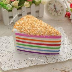 Artificial Lifelike Simulation Fake Slice of Cake Model Stress Reliever Phone Bag Strap Pendent