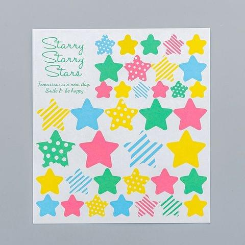 2 PCS Star 3 Pattern Creative Cartoon Children Diary Decorative Sticker
