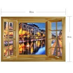 3D Fashion City Window View Removable Wall Art Sticker, Size: 66 x 98 x 0.3 cm