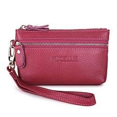 Leather Bling Continental Clutch Wallet Women Purse(Magenta)