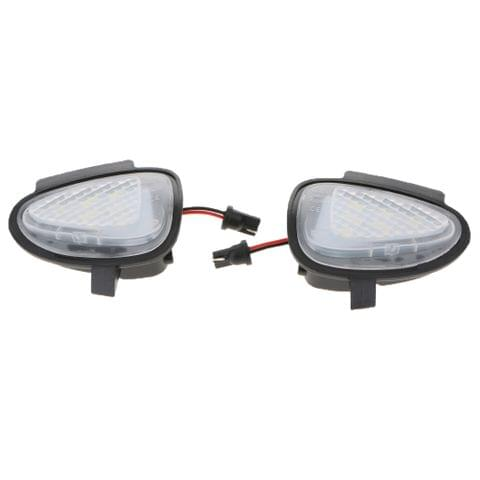 Eassycart 2 Pieces White Towing Mirrors LED Side Mirror Puddle Light Lamp for VW GTi Golf MK6 6 MKVI