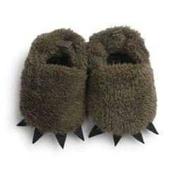 Winter Soft Bottom Warm Paws Baby Shoes Baby Cotton Shoes Non-slip Toddler Shoes(Army Green)