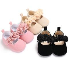 Lovely Flower Baby Girl Newborn Crib Shoes Soft Prewalker Anti-slip Baby Shoes(Blue)