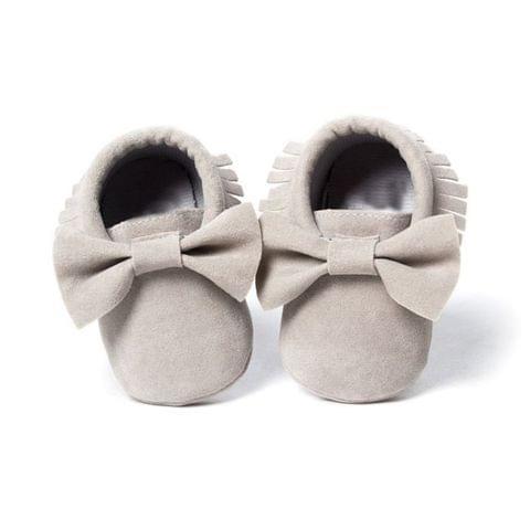 Baby Girls Shoes First Walkers Newborn Baby Moccasins Soft Sole Non-slip Footwear Shoes(Dark Purple)