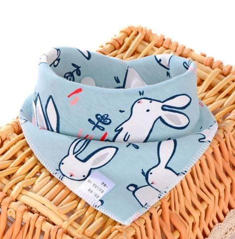3 PCS Newborn Baby Bibs Cotton Soft Baby Smock Bibs(Yellow Dog)