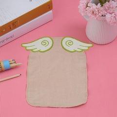 3 PCS Cotton Yarn Feather Wings Pattern Sweat-absorbent Back Towel for Child, Size: M, Random Color Delivery