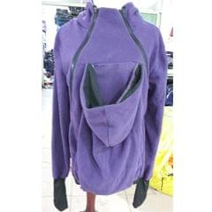 Three-in-one Multi-function Mother Kangaroo Zipper Hoodie Coat Size: XXL, Chest: 110-116cm, Waist:91-95cm, Hip: 116-123cm (Purple)
