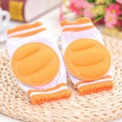 One Pair Ventilated Children  Baby Crawling Walking Knee Guard Elbow Guard Protecting Pads(Orange)