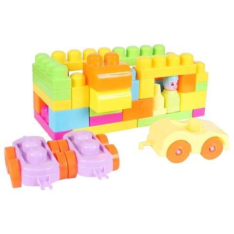 Planet of Toys Toddler 37 Pieces Building Blocks Set for Kids/Children