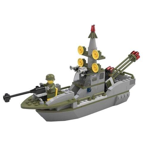 Planet of Toys Army Mini Defense Warship Building Blocks (167 Pieces)