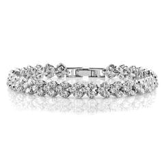 18cm Fashion Zircon Encrusted Roman Bracelets Platinum-plated Bracelet Jewelry