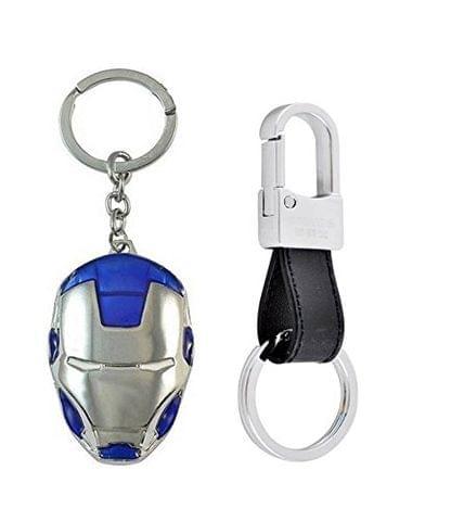SOI Iron Man Blu Style Hook Key Chains (Pack of 2)