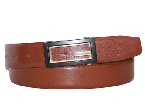 Designer Select Genuine Formal Tan Leather Belt with Imported Buckle