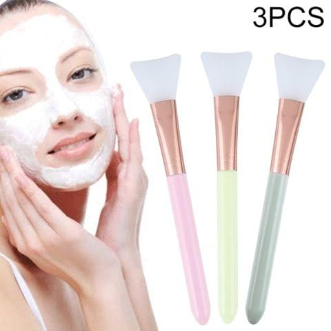 3 PCS Stirring Brush Soft Silicone Makeup Brush Women Skin Face Care Tool, Random Color Delivery