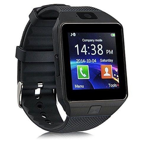 Konarrk Gear Z DZ09 Bluetooth Smart Watch - Sim & Memory Slot - Camera - Android Ios-BLACK