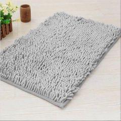 Doormat Anti-slip Floor Water Absorption Rug Bath Mat for Kitchen Bathroom Stairs(Grey)
