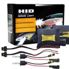 55W H3 6000K 3200LM HID Xenon Light Conversion Kit with High Intensity Discharge Slim Ballast, White