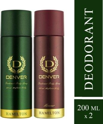 Denver Hamilton and Honour Combo Deodorant Spray - For Men(400 ml, Pack of 2)