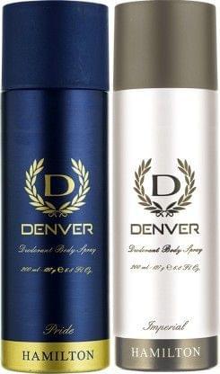 Denver Pride and Imperial Combo Deodorant Spray - For Men(400 ml, Pack of 2)