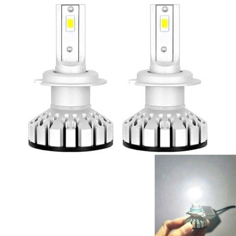 2 PCS R8 H7 30W 3500LM 6000K IP65 Waterproof Car LED Headlight with 2 COB Lamps, DC 9-36V (White Light)