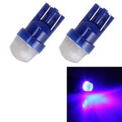 2 PCS T10/W5W/194/501/168 0.6W 35LM 6000K 2835-LED Bulbs Car Reading Lamp Clearance Light, DC 12V(Blue Light)