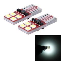 2 PCS T10 3W 300 LM 6000K Constant Current Car Clearance Light with 8 SMD-2835 Lamps, DC 9-18V(White Light)