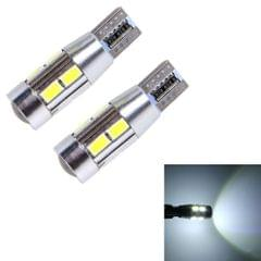 2 PCS T10 6W White Light 10 SMD 5630 LED Error-Free Canbus Car Clearance Lights Lamp, DC 12V