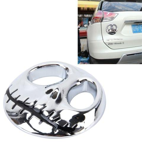 Skull Bone Shape Auto Sticker 3D Metal Fashion Car Stickers(Silver)