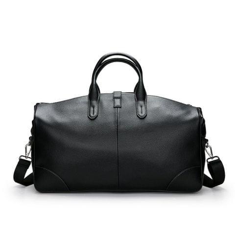 Leisure PU Leather Shoulder Travel Bag Sport Handbag (Black)