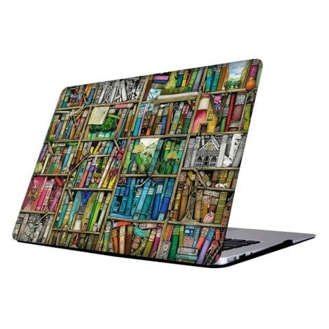 RS-713 Colorful Printing Laptop Plastic Protective Case for MacBook Air 13.3 inch A1466 (2012 - 2017) / A1369 (2010 - 2012)